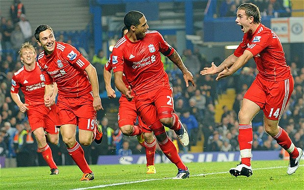 Glen Johnson made one lucky bettor extremely happy against Chelsea in 2011. (Source: Telegraph.co.uk)
